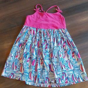 Girls Lilly Pulitzer sailboat print dress 2186